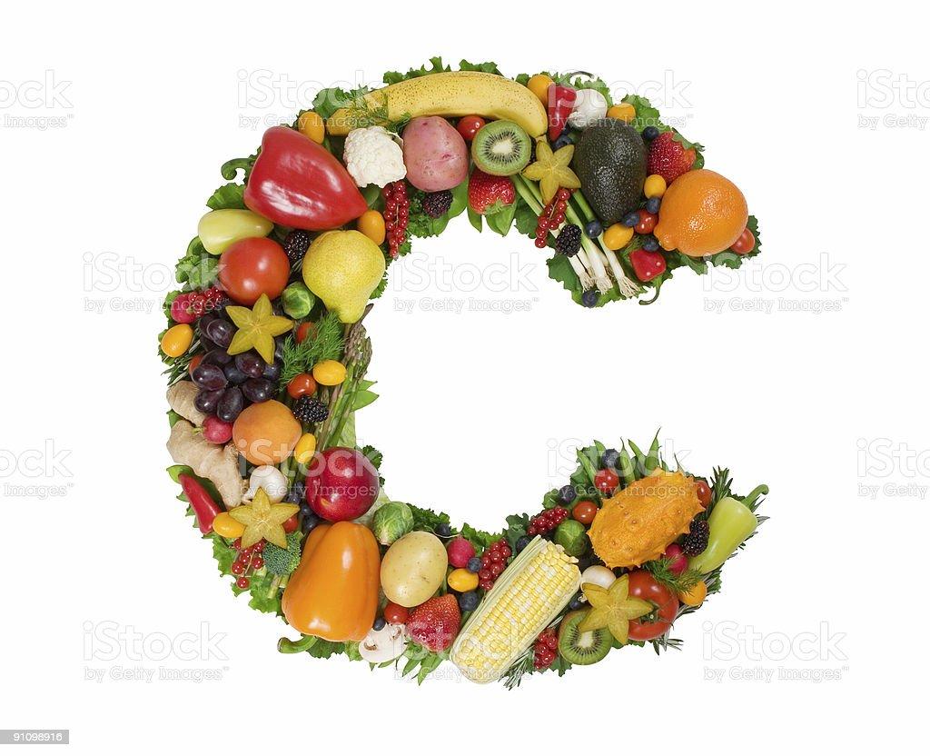 Alphabet of Health - C royalty-free stock photo