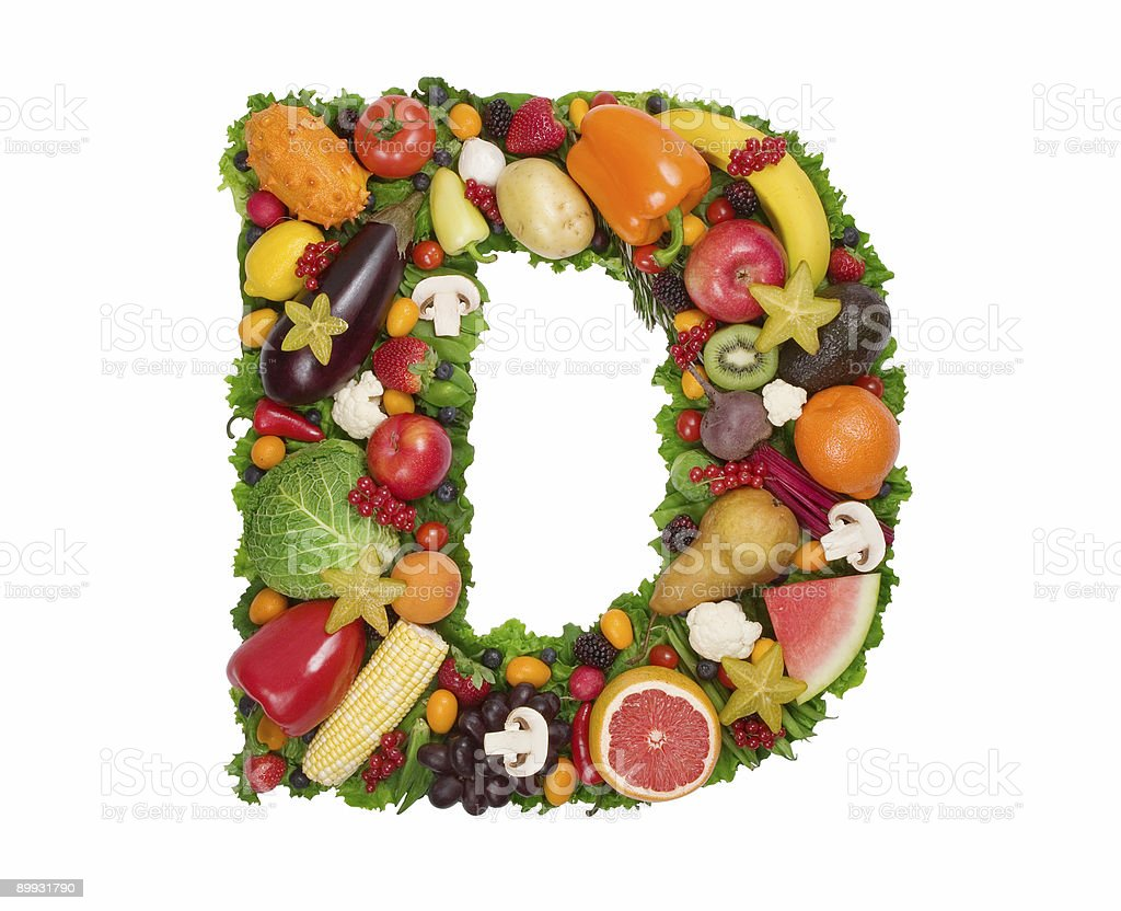 Alphabet of Health - D stock photo