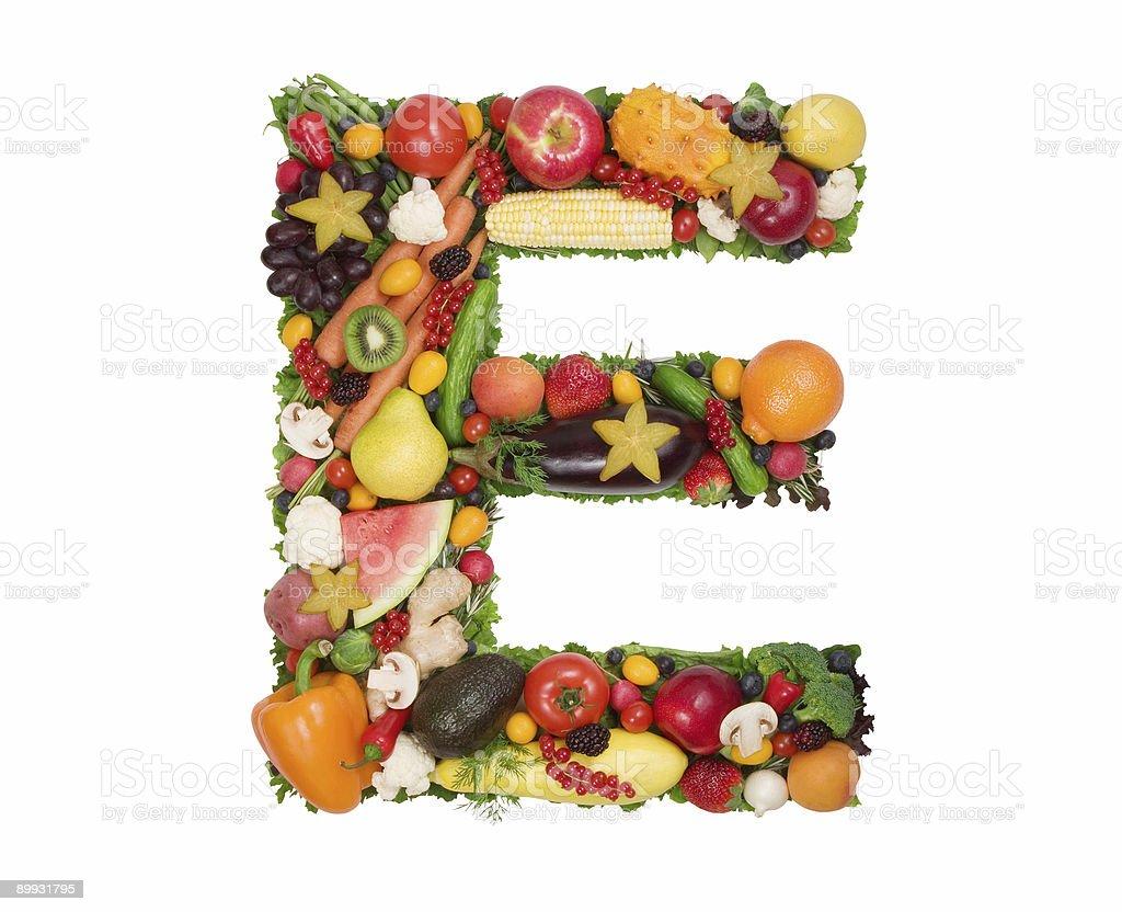 Alphabet of Health - E royalty-free stock photo