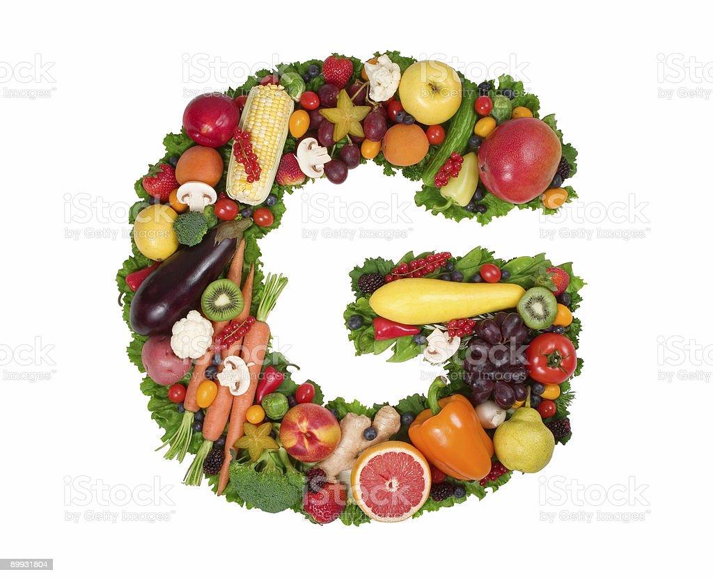 Alphabet of Health - G stock photo
