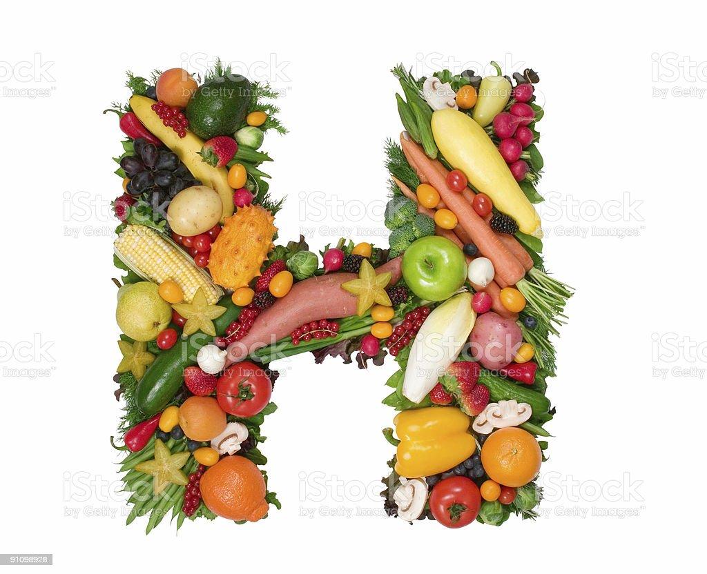 Alphabet of Health - H royalty-free stock photo