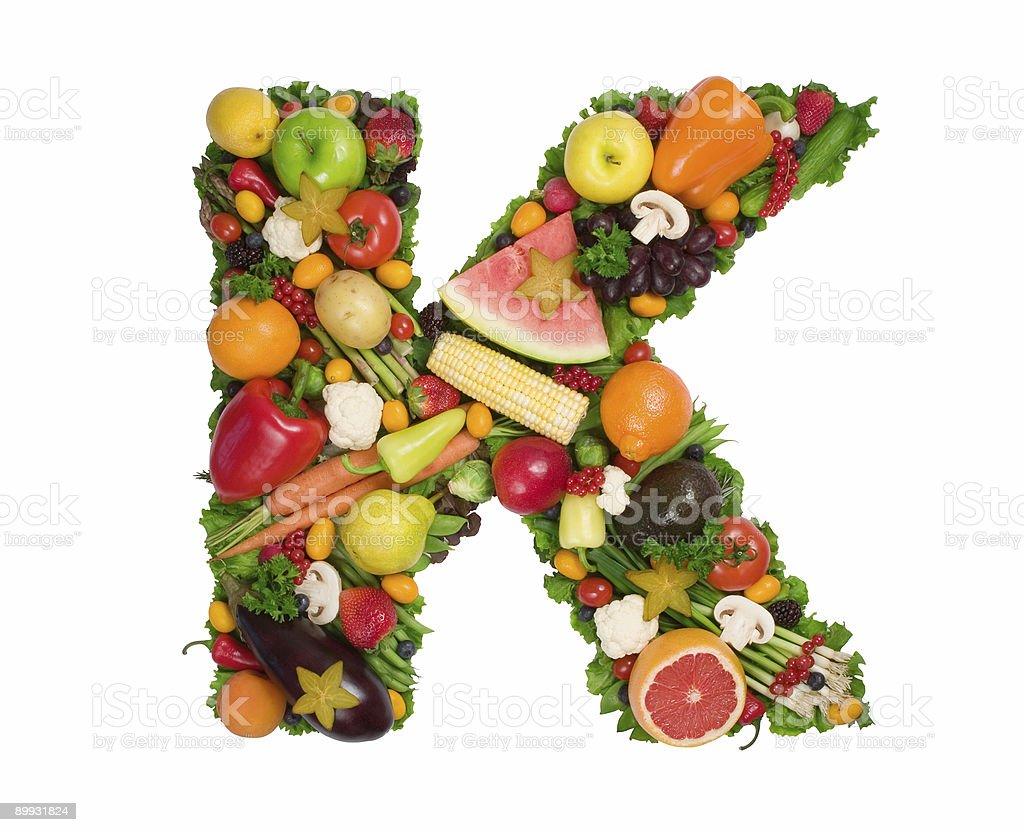 Alphabet of Health - K royalty-free stock photo