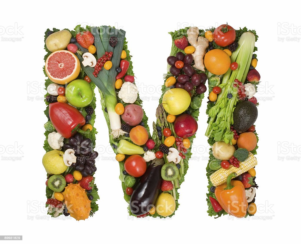 Alphabet of Health - M royalty-free stock photo