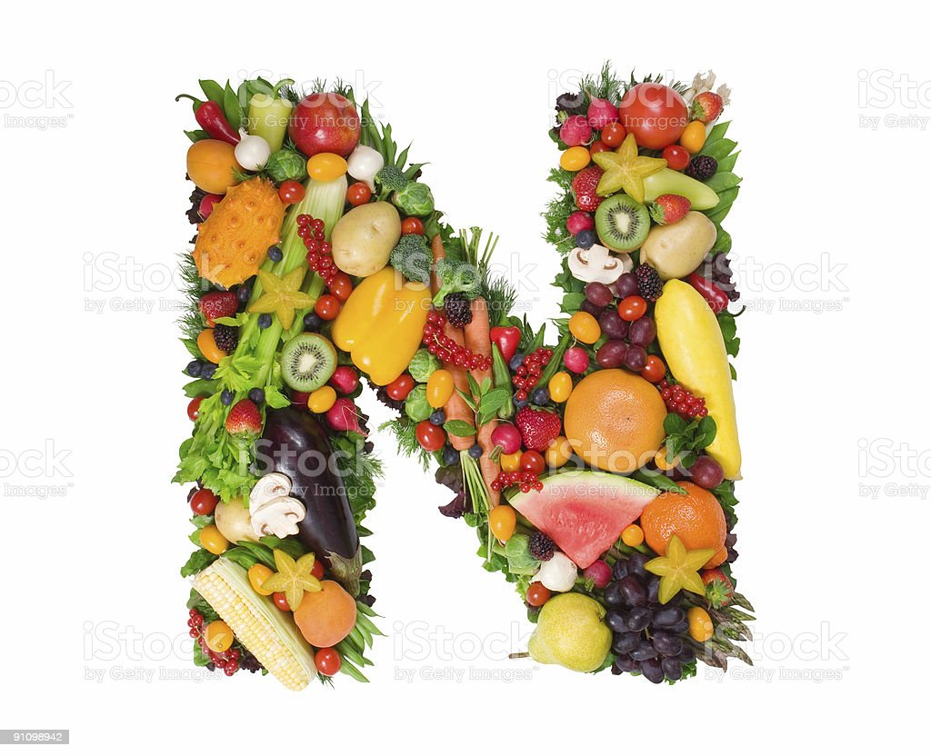 Alphabet of Health - N royalty-free stock photo