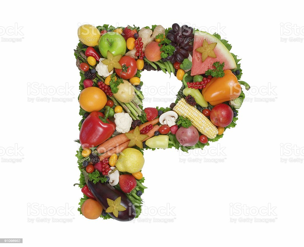 Alphabet of Health - P royalty-free stock photo