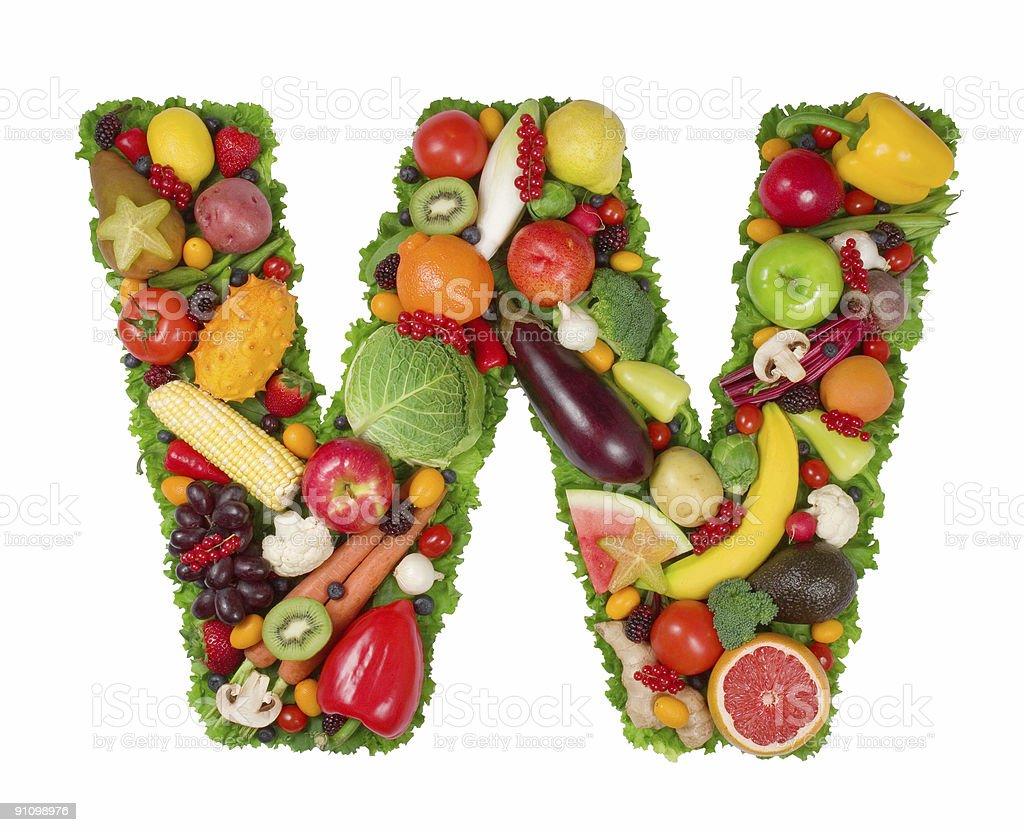 Alphabet of Health - W stock photo
