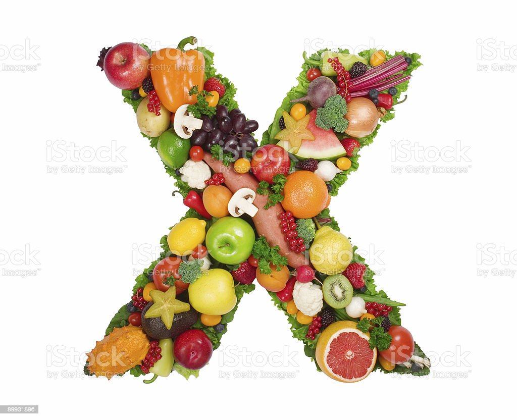 Alphabet of Health - X royalty-free stock photo