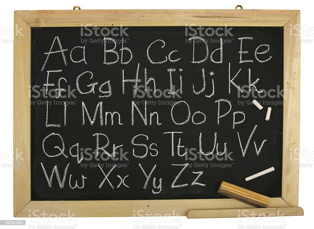 Alphabet on Blackboard royalty-free stock photo