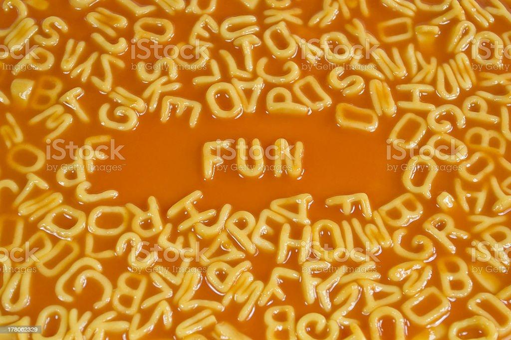 Alphabet Pasta - Fun royalty-free stock photo