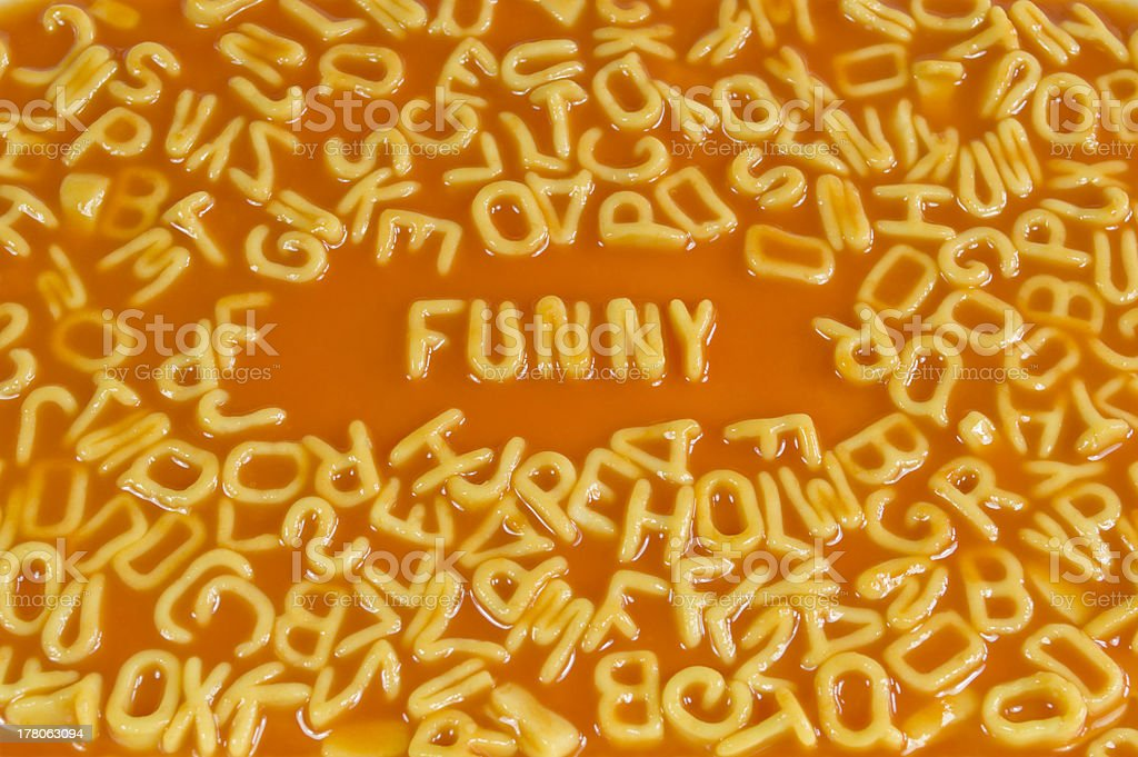 Alphabet Pasta - Funny stock photo