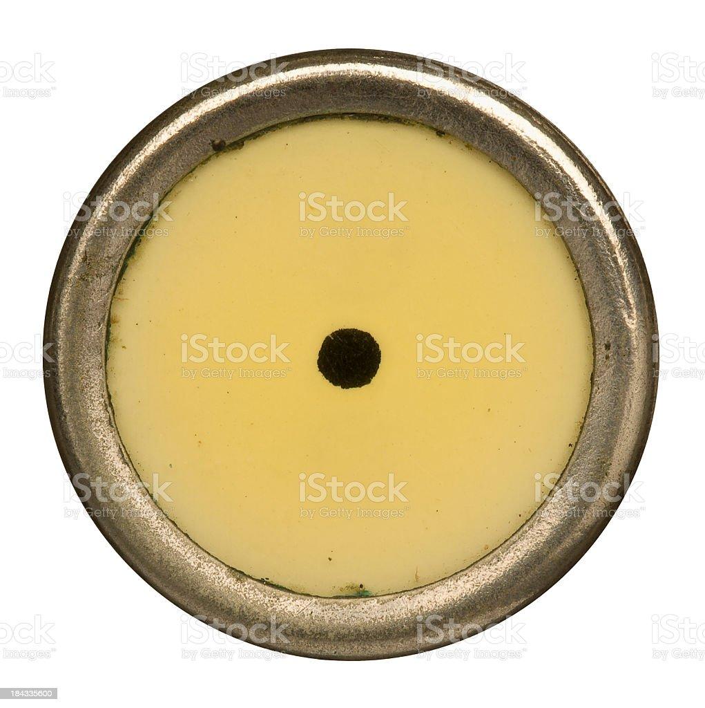 Alphabet - . Period or Dot Key from old Typewriter. royalty-free stock photo