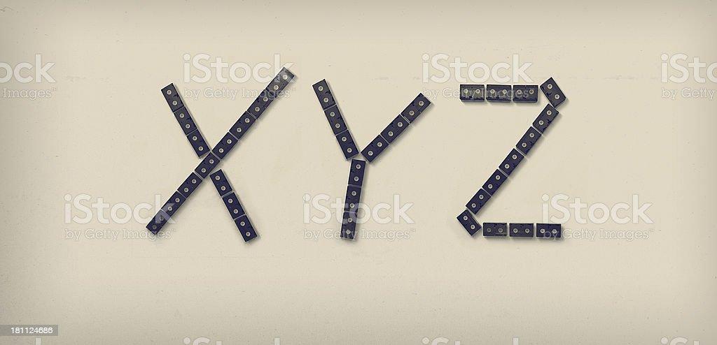 VHS Alphabet stock photo