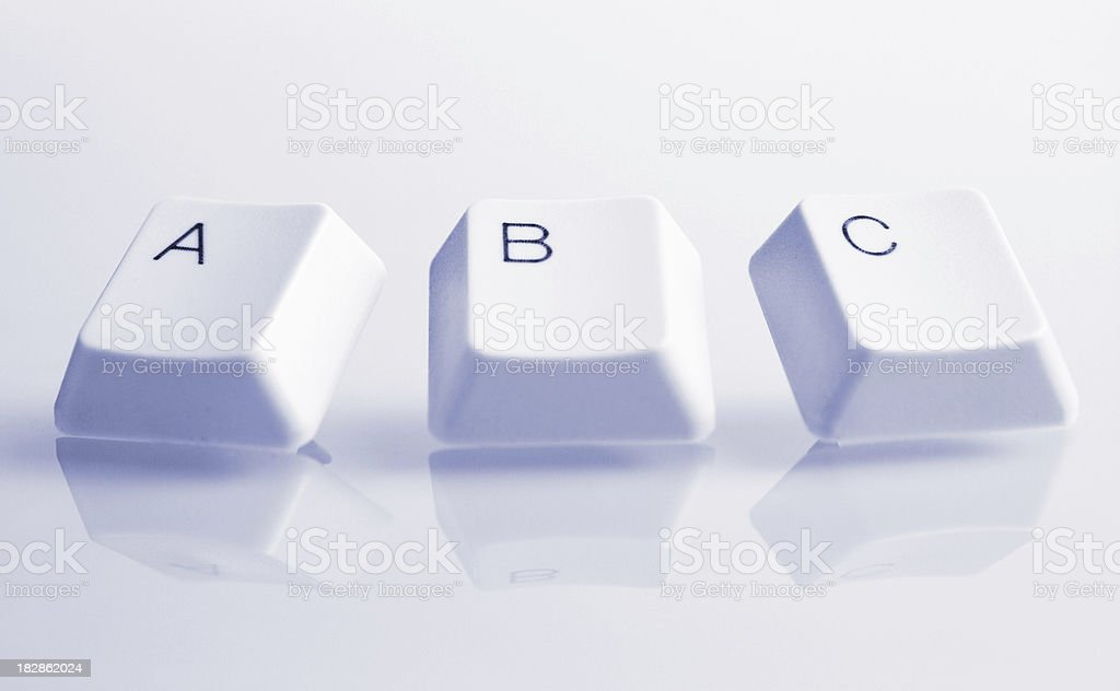 ABC Alphabet royalty-free stock photo