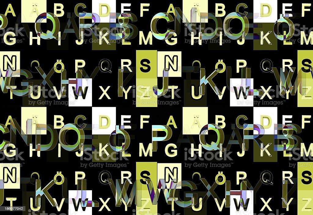 alphabet royalty-free stock photo