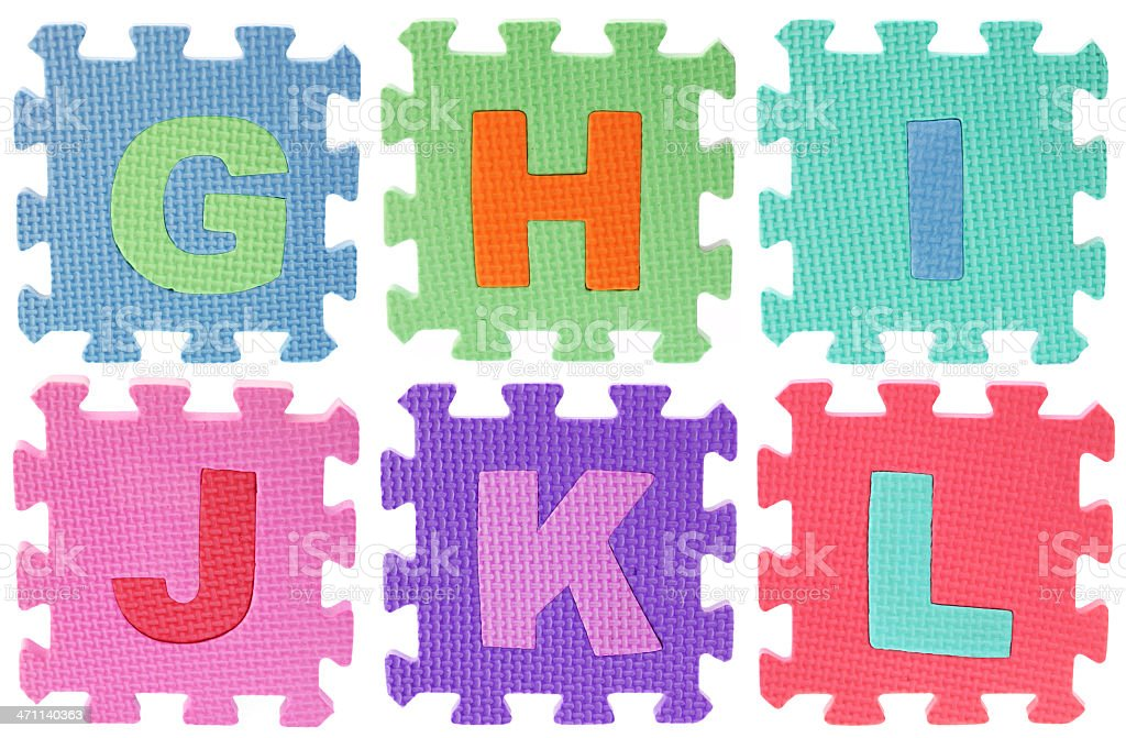 Alphabet Puzzle royalty-free stock photo