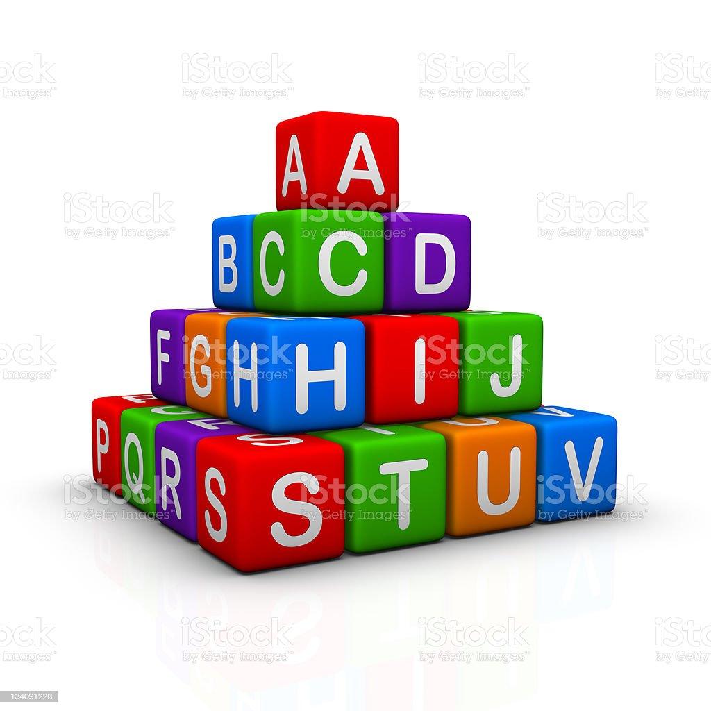 Alphabet Pyramid royalty-free stock photo