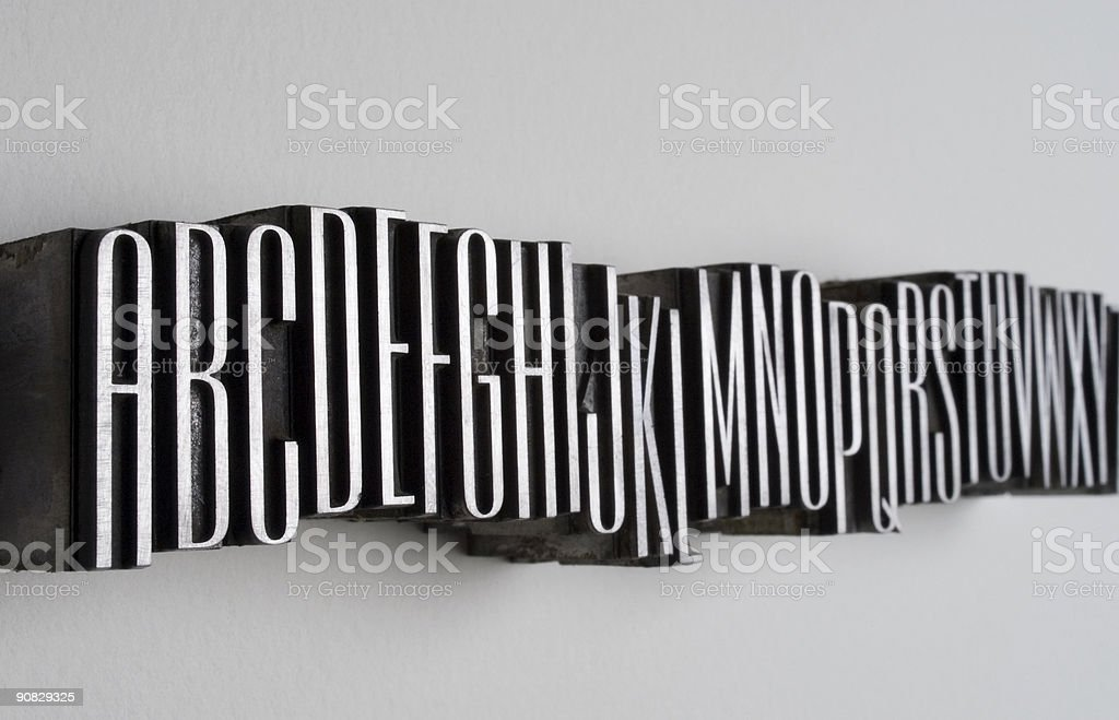 Alphabet Row royalty-free stock photo