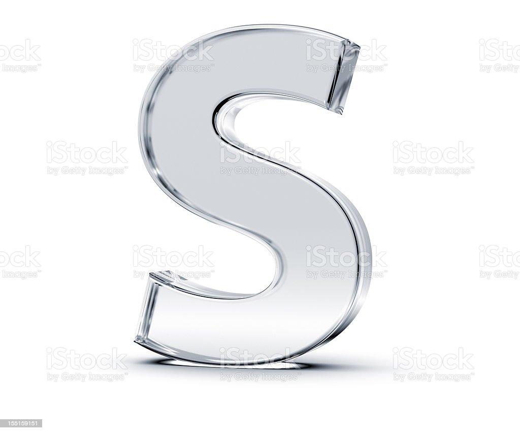 Alphabet S stock photo