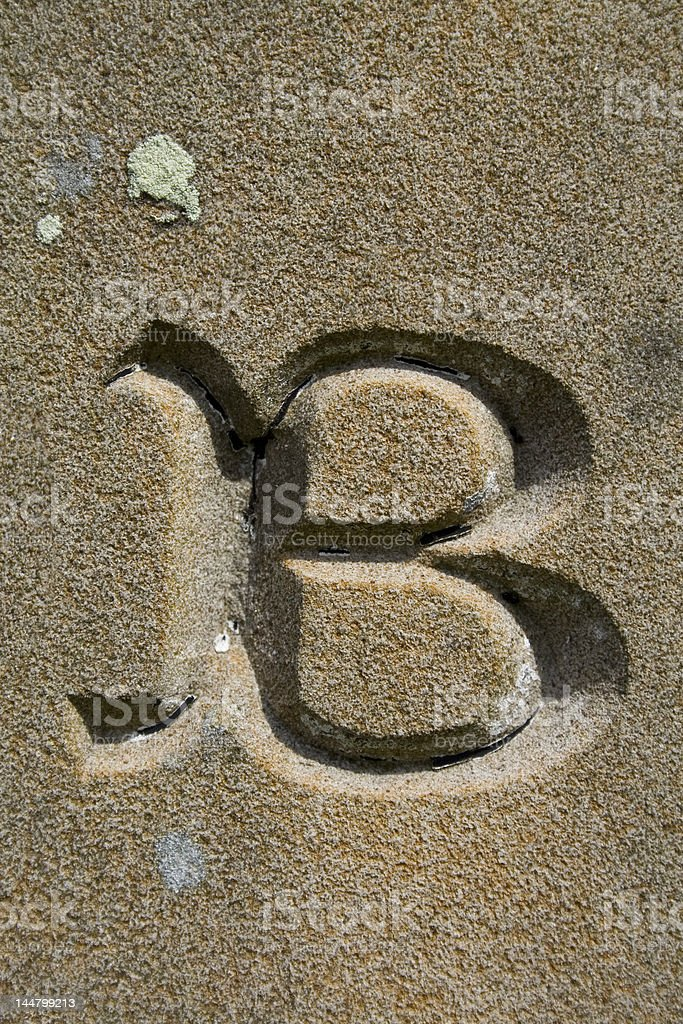 Alphabet Series, Letter B royalty-free stock photo