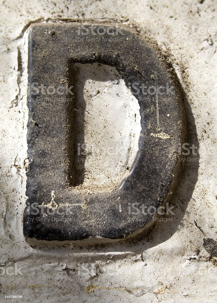 Alphabet Series Letter D royalty-free stock photo