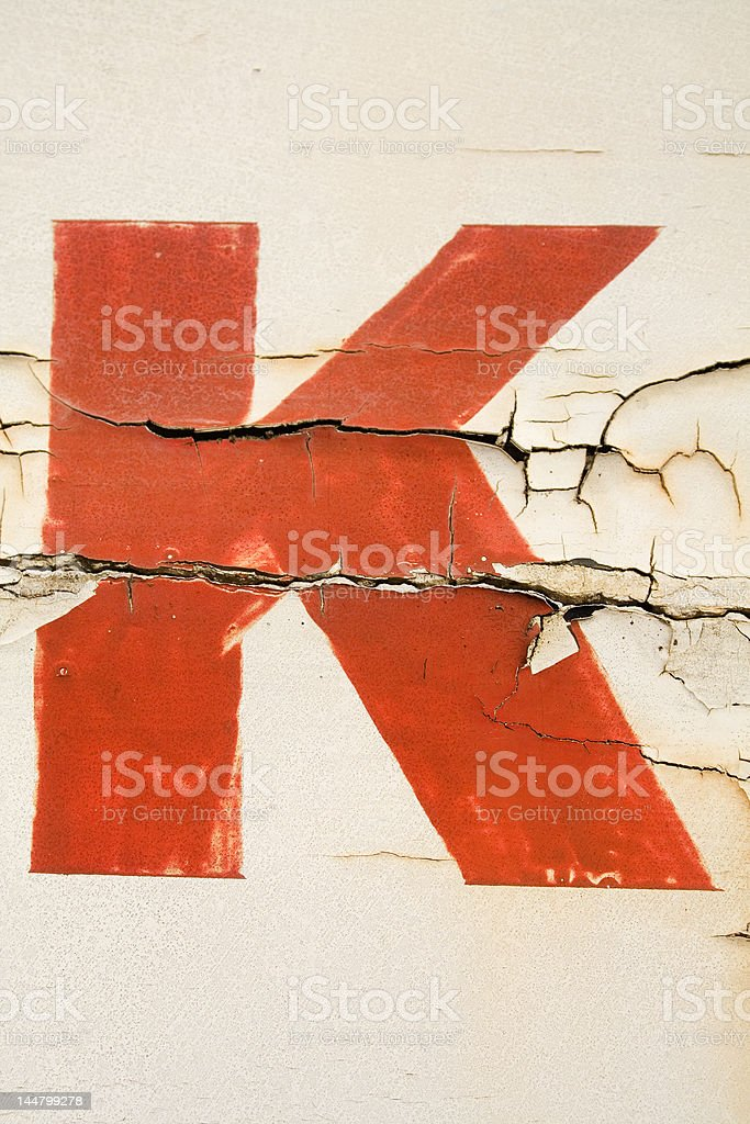 Alphabet Series Letter K stock photo
