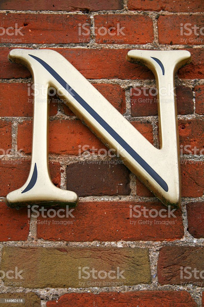Alphabet Series Letter N stock photo