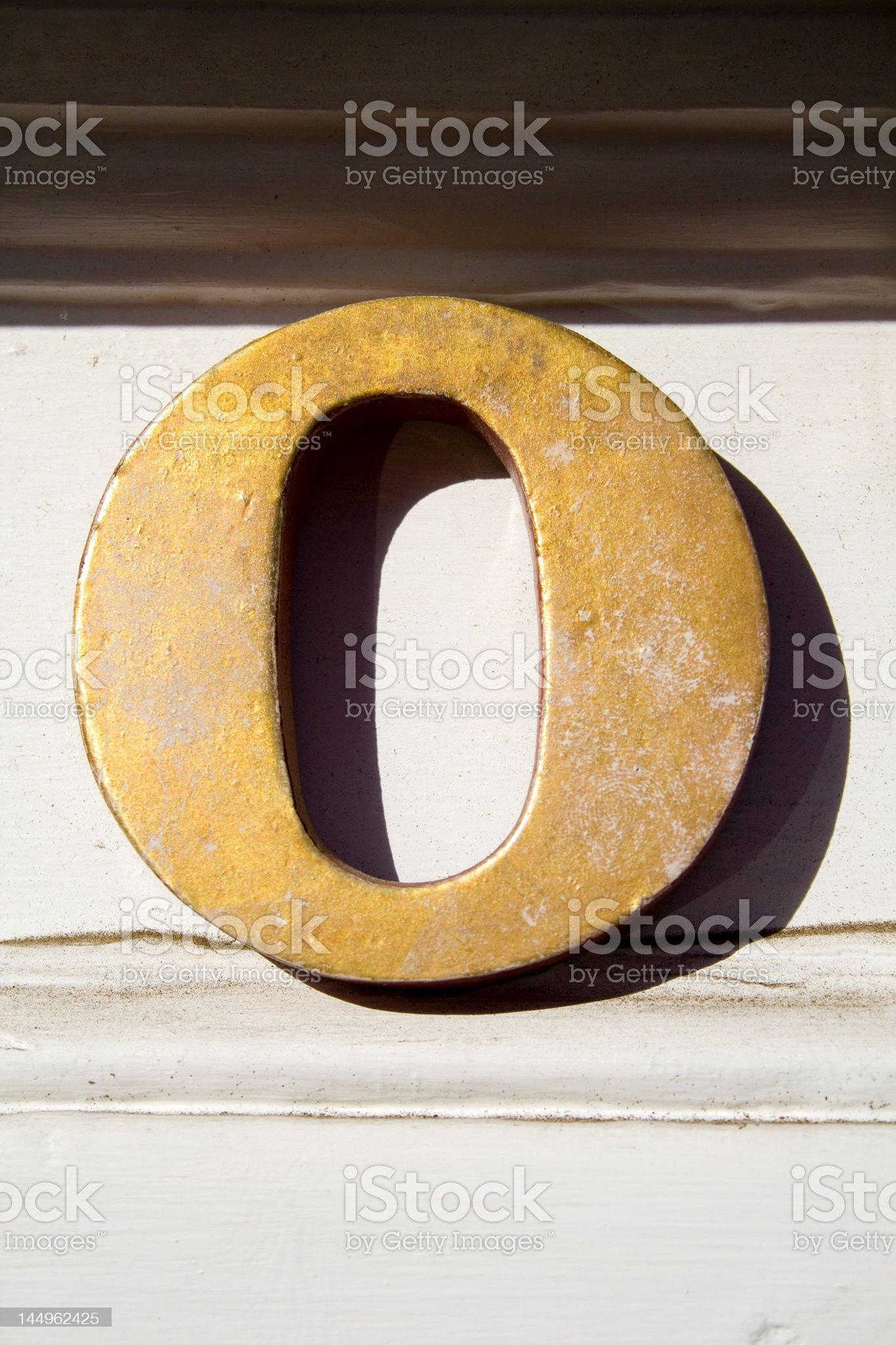 Alphabet Series Letter O royalty-free stock photo