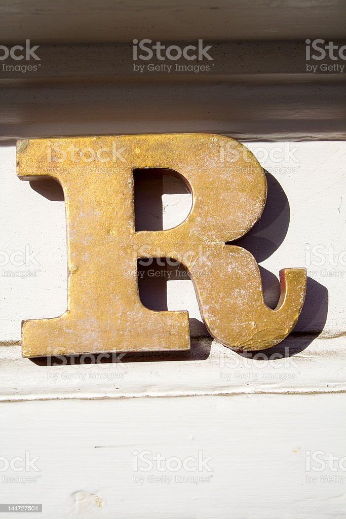 Alphabet Series Letter R royalty-free stock photo