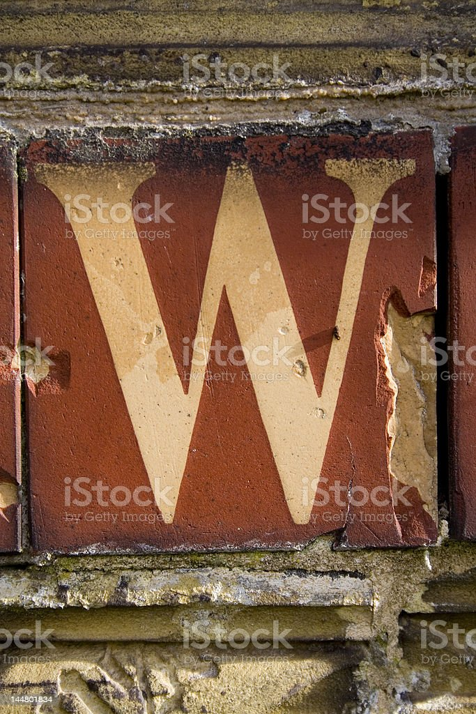 Alphabet Series Letter W stock photo