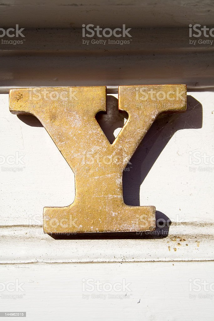 Alphabet Series Letter Y stock photo