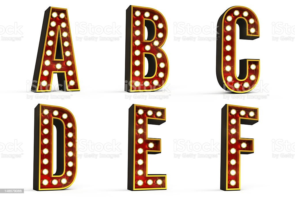 Alphabet Set - Part 1 of 5 with clipping path stock photo