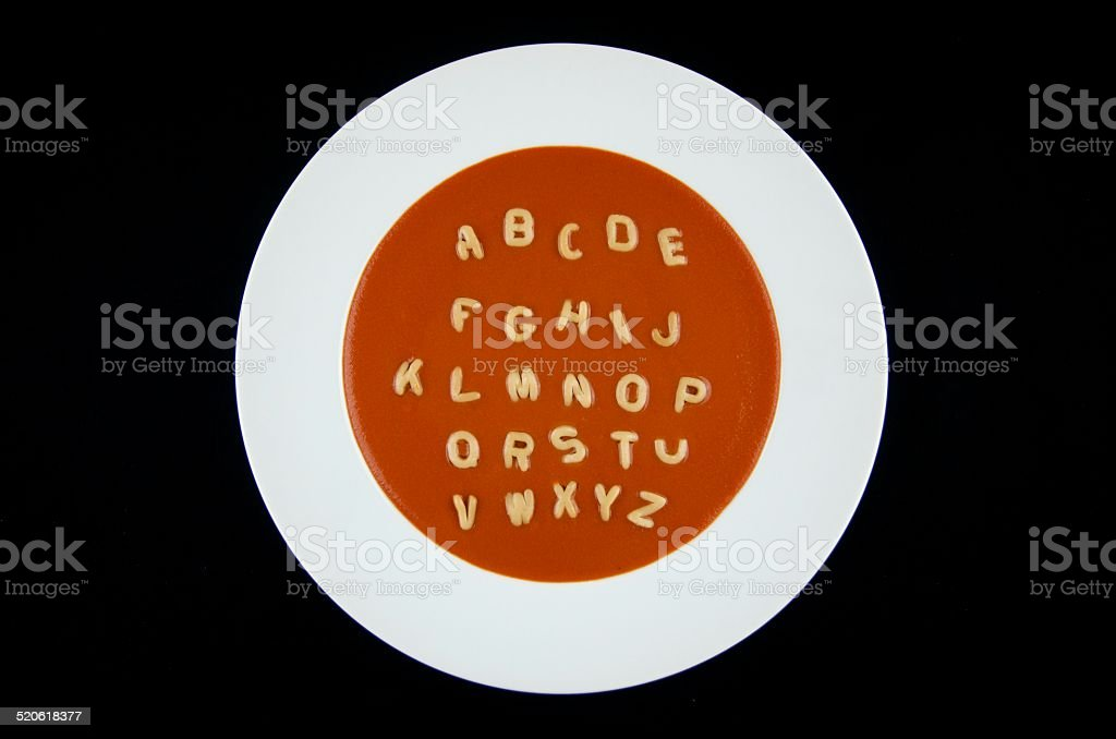 Alphabet Soup stock photo