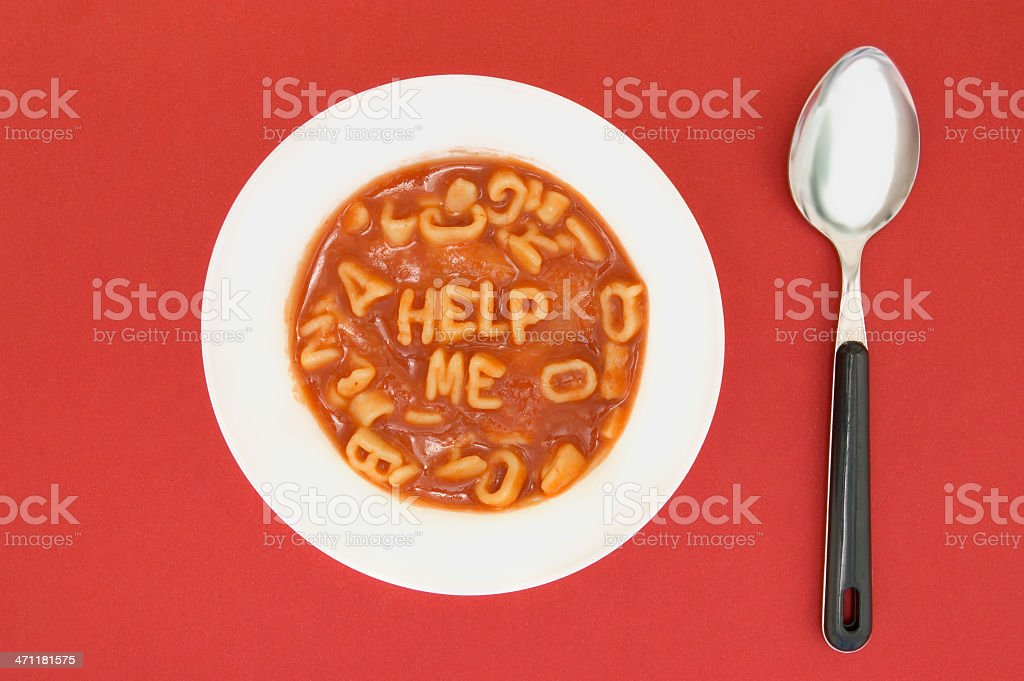 Alphabet Soup Talk stock photo