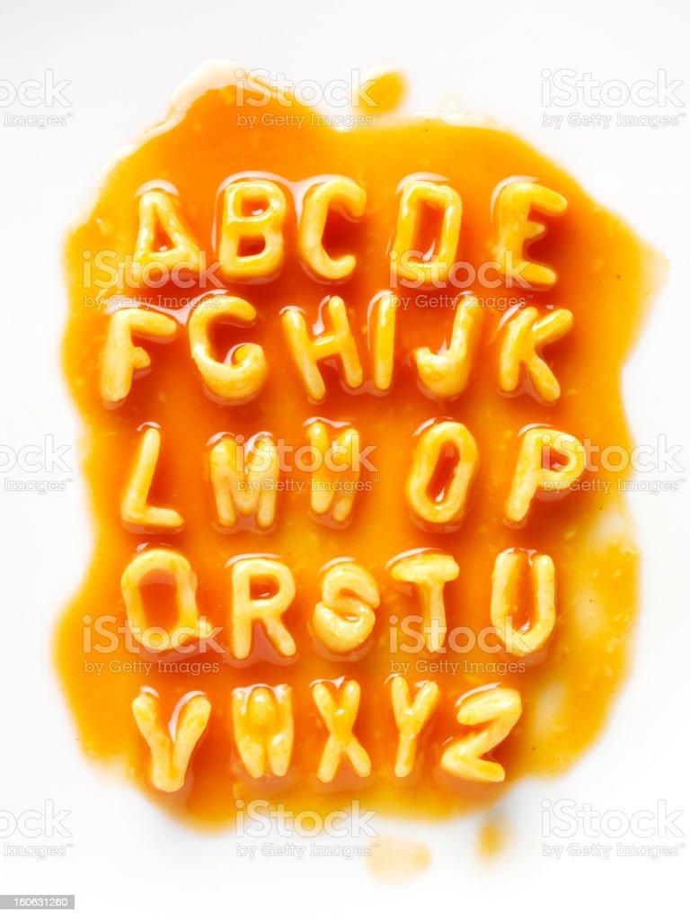 Alphabet spaghetti royalty-free stock photo