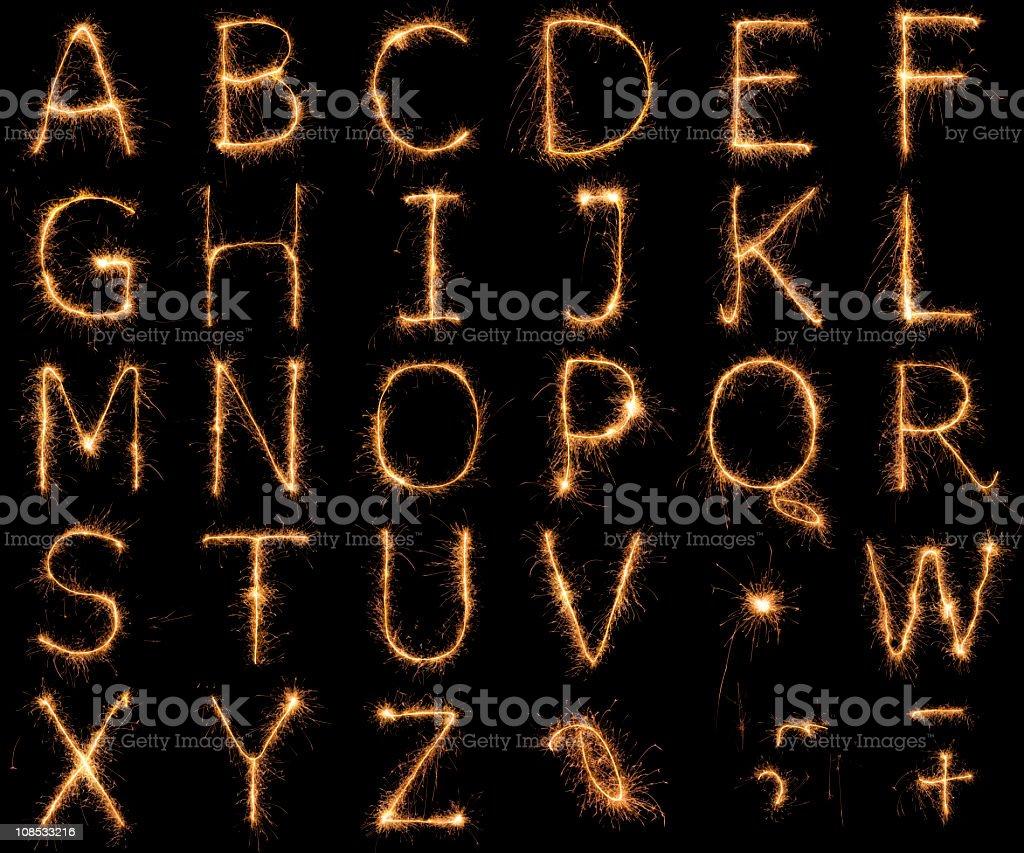 Alphabet sparkler stock photo