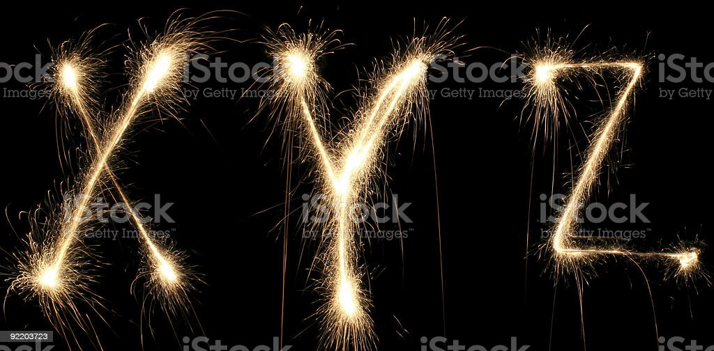 alphabet sparkler royalty-free stock photo