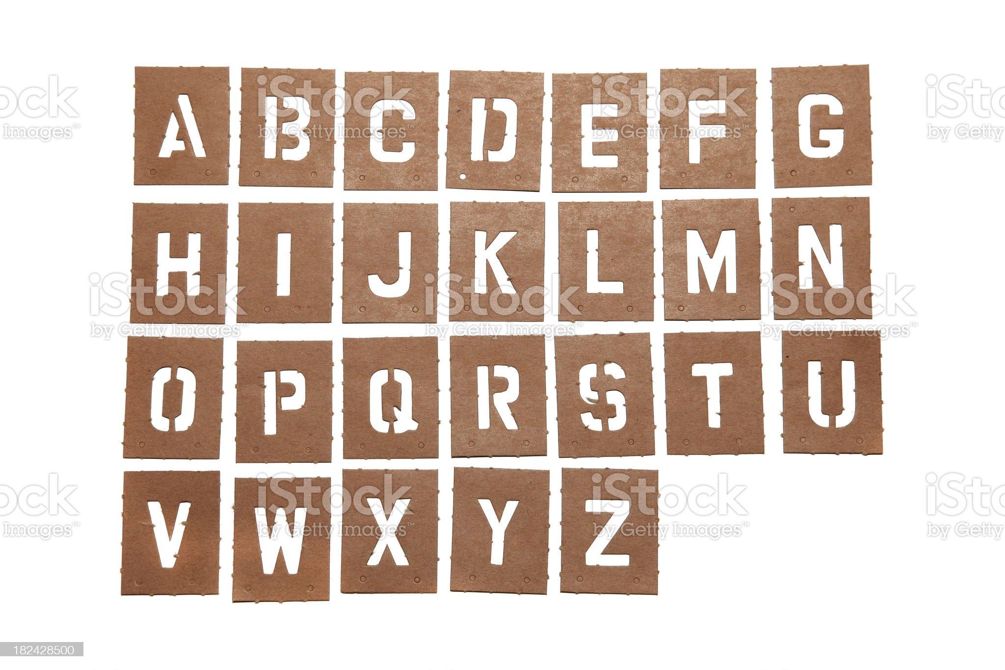 Alphabet Stencil Word royalty-free stock photo