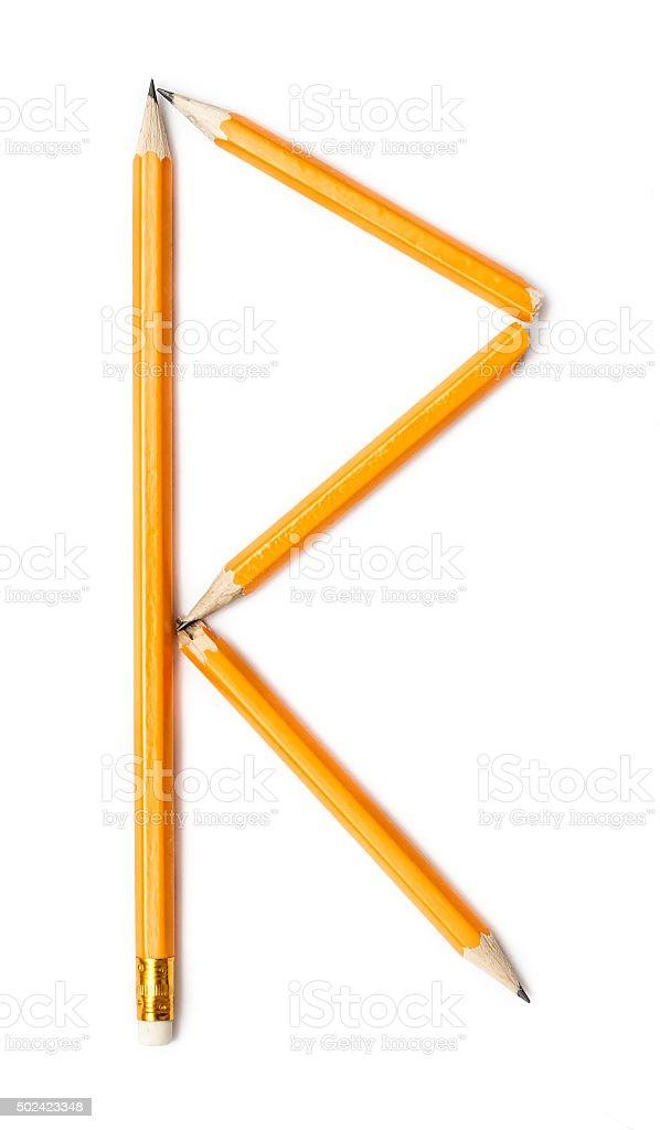Alphabet symbol - letter R stock photo