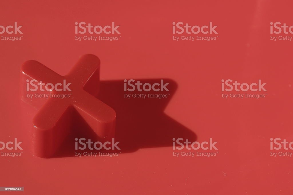 alphabet ' X ' in red background royalty-free stock photo