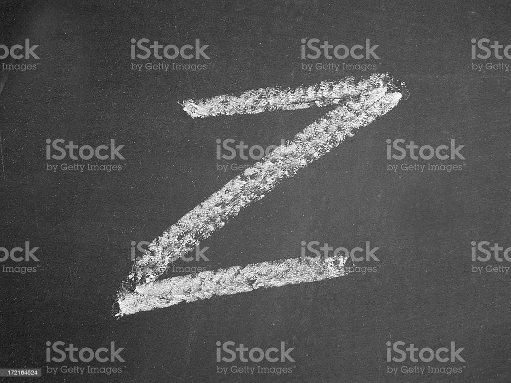 alphabet - Z - Chalk royalty-free stock photo