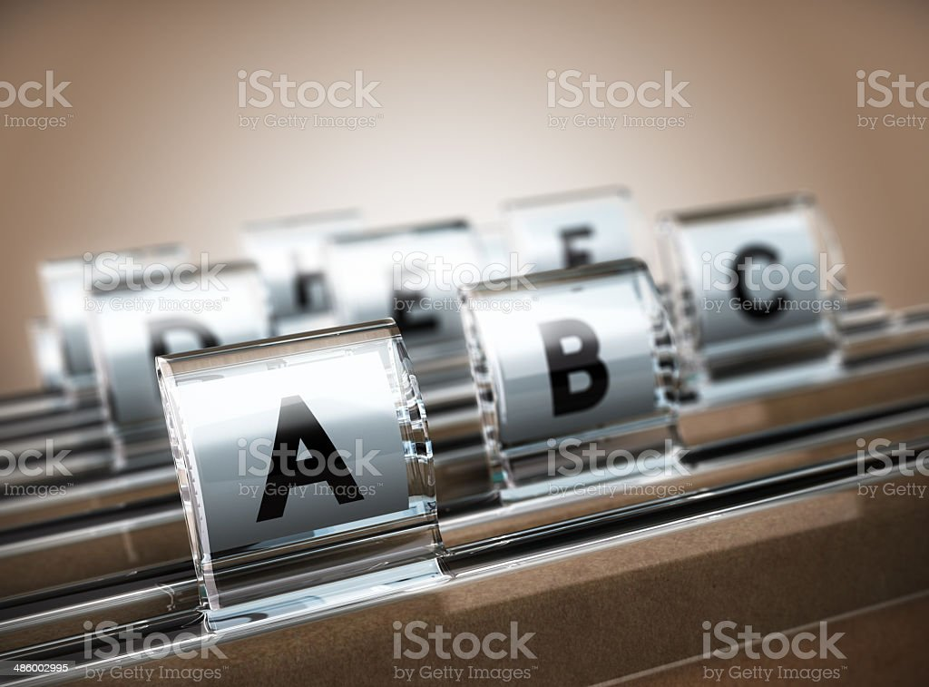 Alphabetical Index stock photo