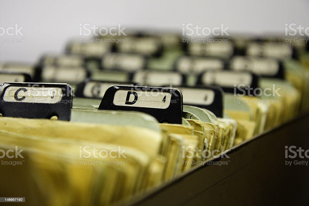 alphabetized file cabinet royalty-free stock photo