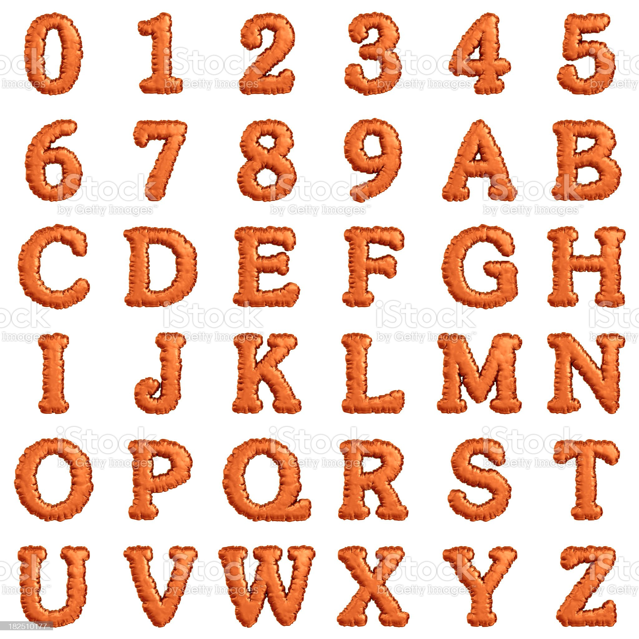 alphabets and numbers royalty-free stock photo
