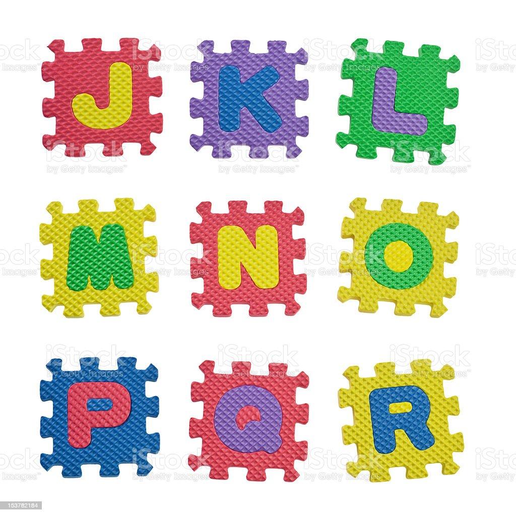 Alphabets J to R royalty-free stock photo