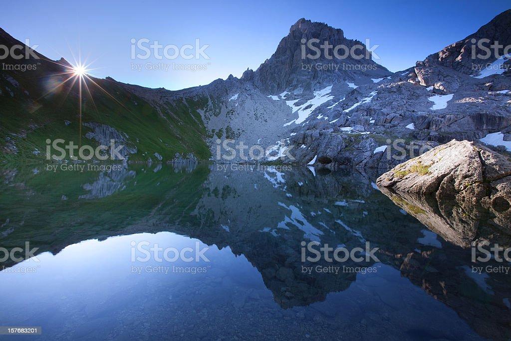 alpin lake gufelsee in tirol - austria royalty-free stock photo