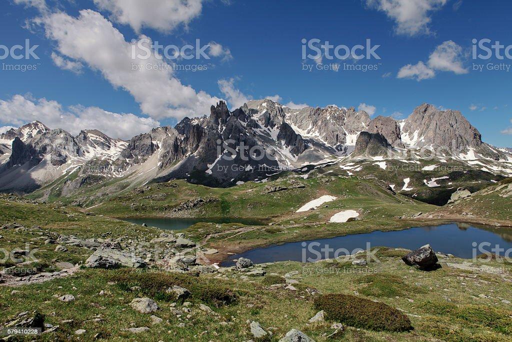 alpin landscape stock photo