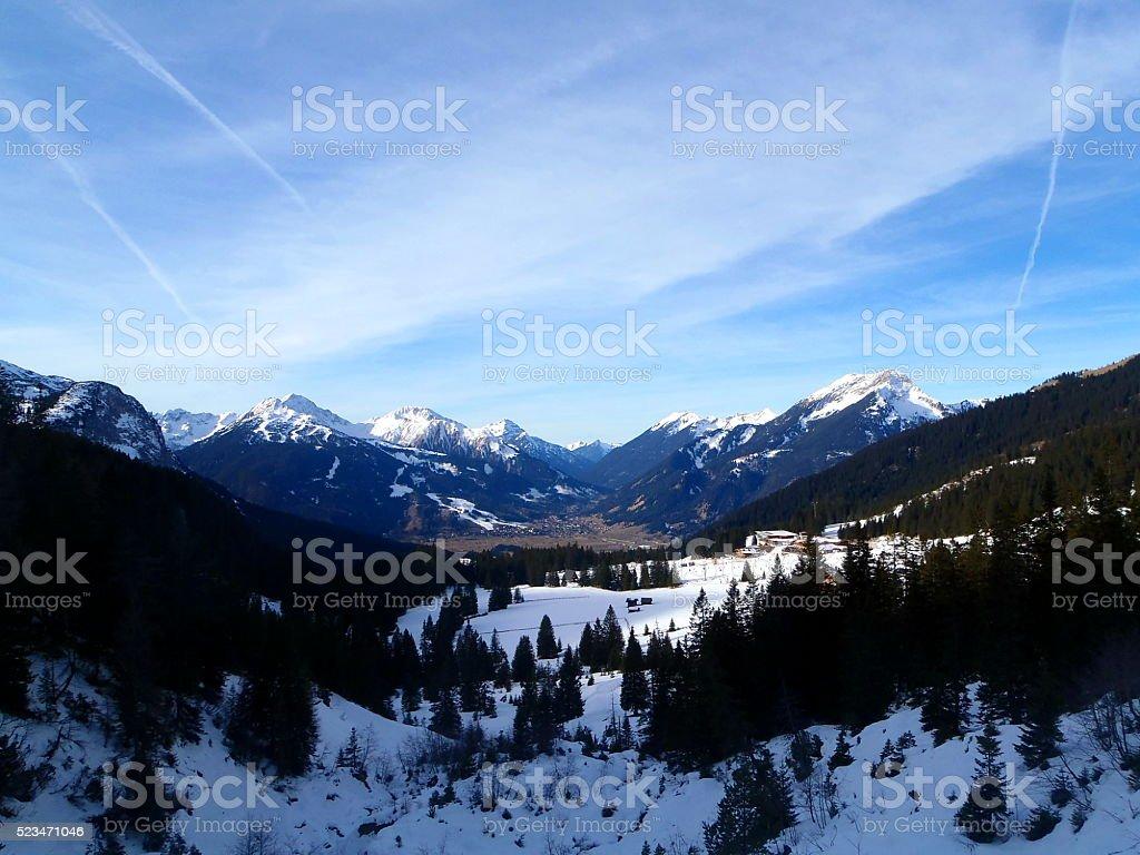 Alpin Panorama stock photo