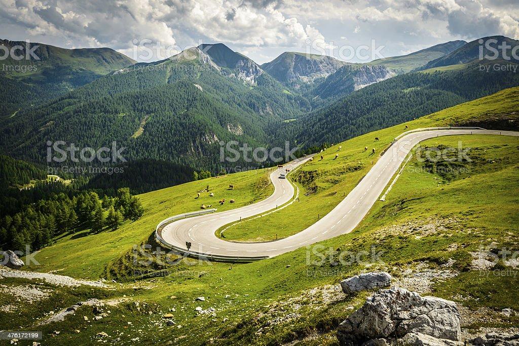 Alpina road stock photo