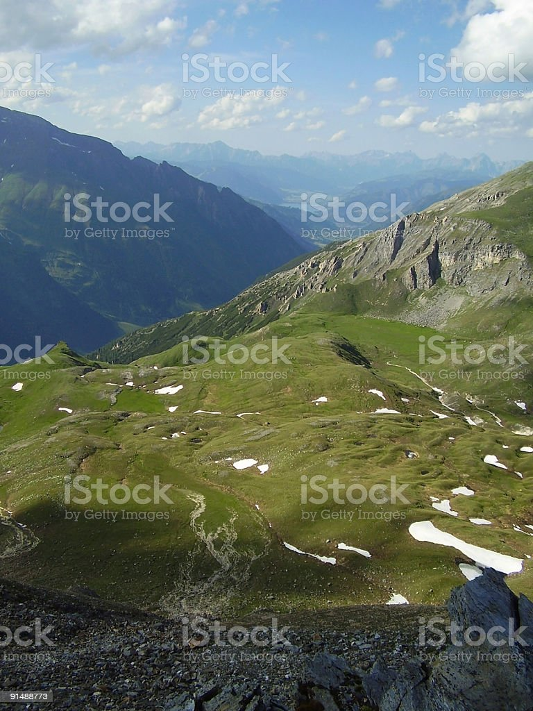 alpine aerial view royalty-free stock photo