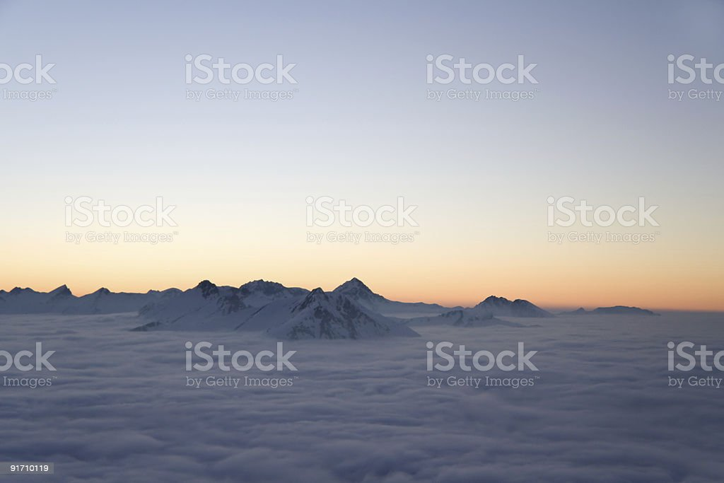 alpine afterglow royalty-free stock photo